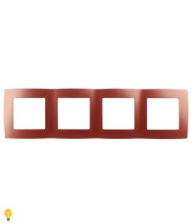 Рамка на 4 поста, Эра12, охра 12-5004-24