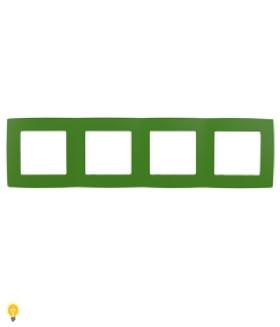 Рамка на 4 поста, Эра12, зелёный 12-5004-27