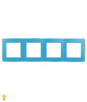 Рамка на 4 поста, Эра12, голубой 12-5004-28