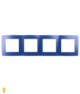 Рамка на 4 поста, Эра12, ультрамарин 12-5004-29