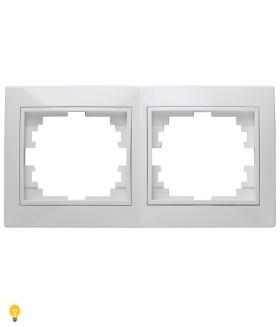 Рамка на 2 поста гор., СУ, Plano, белый 1-502-01 Intro