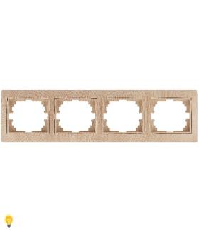 Рамка на 4 поста гор., СУ, Plano, сосна 1-504-11 Intro