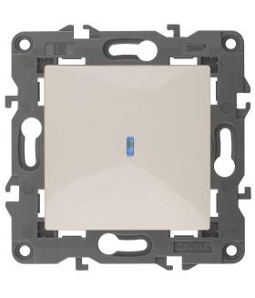 14-1102-02 Эл/ус ЭРА Выключатель с подсветкой, 10АХ-250В, IP20, Эра Elegance, сл.кость