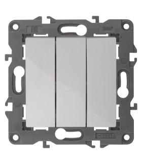 Выключатель тройной, 10АХ-250В, IP20, Эра Elegance, слоновая кость 14-1107-02