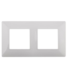 Рамка на 2 поста, Эра Elegance, белый 14-5002-01