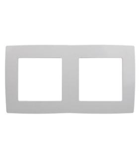 Рамка на 2 поста, Эра Elegance, алюминий 14-5002-03