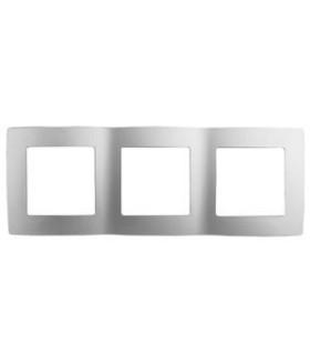 Рамка на 3 поста, Эра Elegance, алюминий 14-5003-03