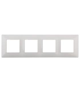 Рамка на 4 поста, Эра Elegance, белый 14-5004-01