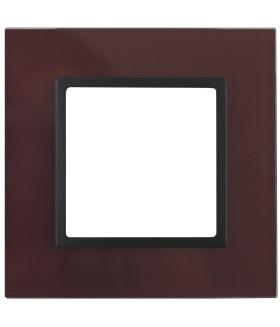 14-5101-25 Эл/ус ЭРА Рамка на 1 пост, стекло, Эра Elegance, бордо+антр