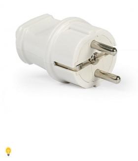 Вилка Smartbuy, прямая с заземлением белая 16А 250В (SBE-16-P01-w)