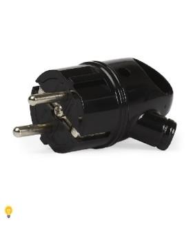 Вилка Smartbuy, с кольцом с заземлением черная 16А 250В (SBE-16-P03-b)