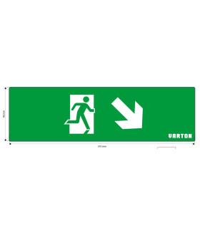 """пиктограмма """"ФИГУРА / СТРЕЛКА ВНИЗ ВПРАВО"""" для аварийно-эвакуационного светильника ip20"""