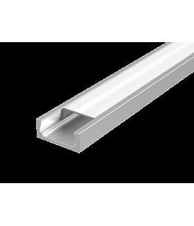 Алюминиевый профиль для LED ленты с рассеивателем встраиваемый 2000мм посадочное место 10мм