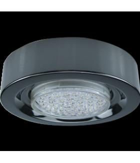 Ecola GX53 FT3073 Светильник Накладной Широкий Черный хром 32x130