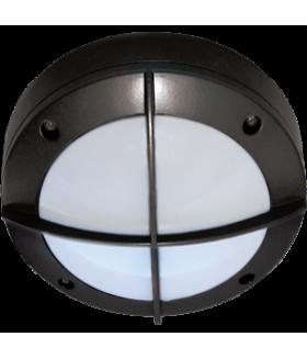 Ecola GX53 LED B4143S светильник накладной IP65 матовый Круг с решеткой алюмин. 1*GX53 Черный 145x145x65