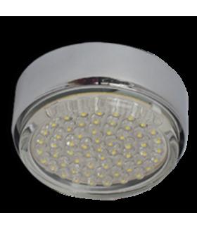 Ecola GX53 FT8073 светильник накладной хром 25x82