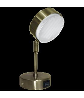Ecola GX53 FT4173 cветильник поворотный на среднем кроншт. черненая бронза 210x80