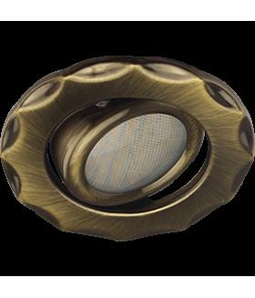 Ecola MR16 DH07 GU5.3 Светильник встр. поворотный Звезда (скрытый крепеж лампы) Бронза 25x88 (кd74)