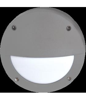 Ecola GX53 LED B4140S светильник накладной IP65 матовый Круг с ресничкой алюмин. 1*GX53 Серый 145x145x65