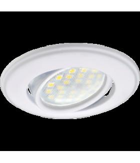 Ecola MR16 DH03 GU5.3 Светильник встр. поворотный выпуклый (скрытый крепеж лампы) Белый 25x88 (кd74)