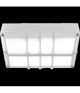 Ecola GX53 LED B4158S светильник накладной IP65 матовый Прямоугольник с решеткой алюмин. 2*GX53 Белый 215x135x65