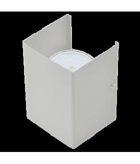 Ecola GX53-N52 светильник настенный бра прямоугольный серый 2* GX53 100х140х90 (1 из цв. уп. по 2)