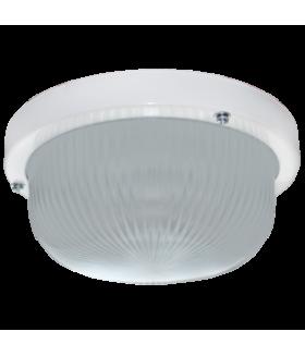 Ecola Light GX53 LED ДПП (DPP) 03-7-101 светильник Круг накладной IP65 1*GX53 матовое стекло белый 185х185х85