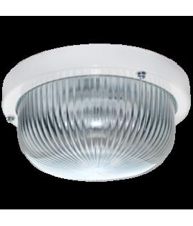Ecola Light GX53 LED ДПП (DPP) 03-7-001 светильник Круг накладной IP65 1*GX53 прозр. стекло белый 185х185х85