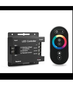 Контроллер для RGB 288W 24А с сенсорным пультом управления цветом (черный)