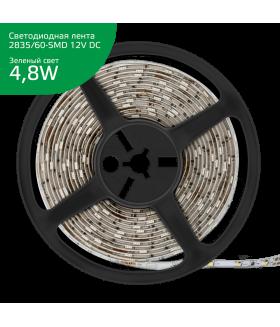 Лента Gauss LED Elementary 2835/60-SMD 4.8W 12V DC зеленый IP20 (ZIP Bag 5м)