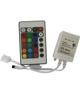 Ecola LED strip RGB IR controller 6A 72W 12V (144W 24V) с инфракрасным пультом управления