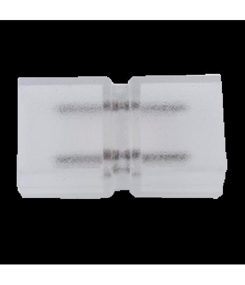 Ecola LED strip 220V connector соединитель лента-лента 2-х конт для ленты IP68 12x7 уп. 1 шт.