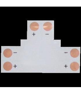 Ecola LED strip connector гибкая соед. плата T для зажимного разъема 2-х конт. 10 mm уп. 5 шт.