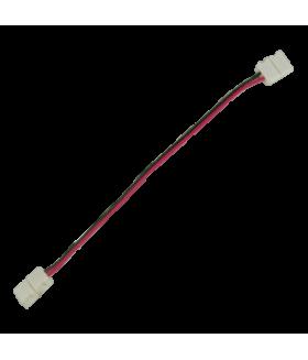 Ecola LED strip connector соед. кабель с двумя 2-х конт. зажимными разъемами 8mm 15 см. уп. 3 шт.