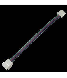 Ecola LED strip connector соед. кабель с двумя 4-х конт. зажимными разъемами 10mm 15 см. уп. 3 шт.