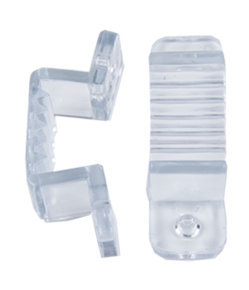 Ecola LED strip 220V connector holder скоба крепежная для IP68 12x7 ленты уп. 10шт