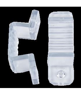 Ecola LED strip 220V connector holder скоба крепежная для IP68 16x8 ленты уп. 10шт