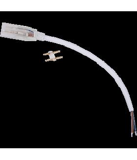 Ecola LED strip 220V connector кабель питания 150мм с муфтой и разъемом IP68 для ленты 12x7