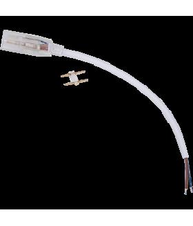Ecola LED strip 220V connector кабель питания 150мм с муфтой и разъемом IP68 для ленты 14x7