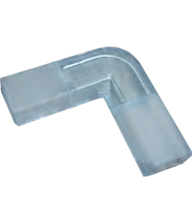 """Ecola LED strip 220V connector комплект для упрощенного соединения """"L""""лента-лента 2-х конт для ленты IP68 14x7"""
