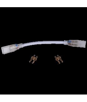 Ecola LED strip 220V connector гибкий соединитель лента-лента 2-х конт с разъемами для ленты IP68 12x7