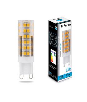 Лампа светодиодная, (7W) 230V G9 6400K, LB-433