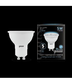 Лампа Gauss LED MR16 GU10 5W 4100K 1/10/100