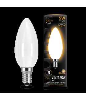 Лампа Gauss LED Filament Candle OPAL E14 5W 2700К 1/10/50