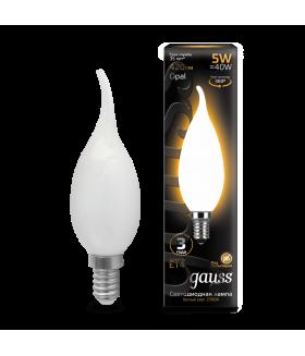 Лампа Gauss LED Filament Candle Tailed OPAL E14 5W 2700К 1/10/50