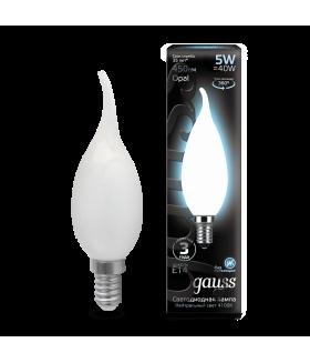 Лампа Gauss LED Filament Candle Tailed OPAL E14 5W 4100К 1/10/50