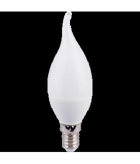 Ecola candle LED 6,0W 220V E14 2700K свеча на ветру (композит) 118x37