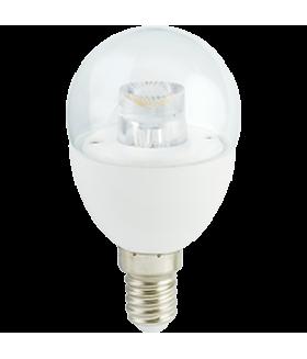 Ecola globe LED Premium 7,0W G45 220V E14 4000K прозрачный шар с линзой (композит) 80x45