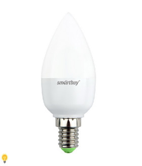 Светодиодная (LED) Лампа Smartbuy-C37-07W/3000/E14