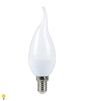 Светодиодная (LED) Свеча на ветру матовая Лампа Smartbuy-C37-07W/3000/E14